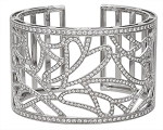 Women Cuff Bracelets 12.55 Ct Diamond Solid Gold Natural Certified